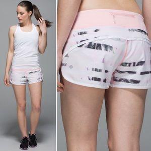 Lululemon Speed Shorts Sunset Stripe Blush White 4